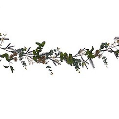 Debenhams - Eucalyptus, pinecone and white berry garland