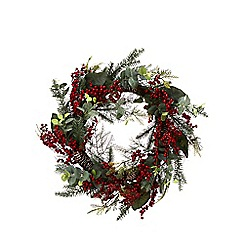 Debenhams - Red berry Christmas wreath