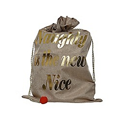 Kaemingk - Natural jute 'Naughty' giftbag