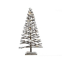 Kaemingk - Cream snowy LED Christmas tree