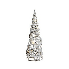 Kaemingk - 2ft Warm White LED Twisted Cone Christmas Tree