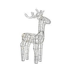 Kaemingk - Silver Christmas LED reindeer decoration