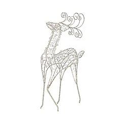 Debenhams - Silver glitter Christmas deer table piece
