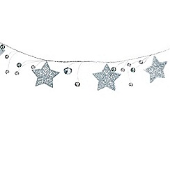 Debenhams - Silver star glitter garland