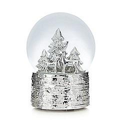 Debenhams - Silver reindeer snow globe
