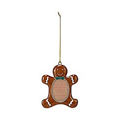 Debenhams - Brown gingerbread man photo frame tree decoration