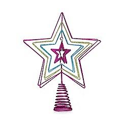 Debenhams - Multicoloured star tree topper