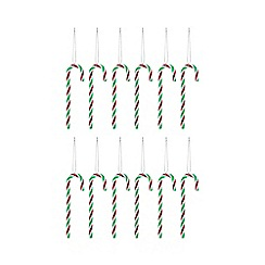 Debenhams - Pack of 12 multicoloured candy cane Christmas tree decorations