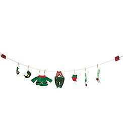 Debenhams - Multicoloured 'Elf Laundry' Christmas garland