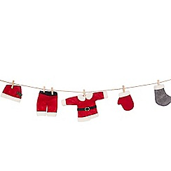 Debenhams - Multicoloured 'Santa Laundry' Christmas garland