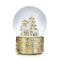 Debenhams - Gold reindeer snow globe