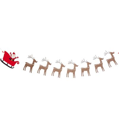 Debenhams   Multicoloured Santa And Reindeer Christmas Garland by Debenhams