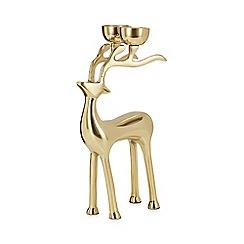 Debenhams - Gold stag candelabra