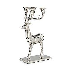 Debenhams - Silver stag candelabra