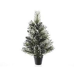 Kaemingk - 2ft Green Frosted Finley Christmas tree
