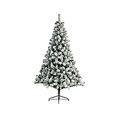 Kaemingk - Green and white snowy 'Imperial' 5ft Christmas tree