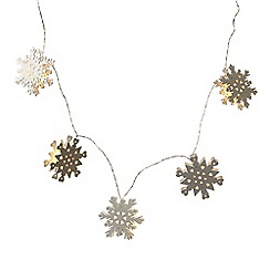 Heaven Sends - Wooden Snowflake LED Light Garland