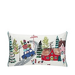Home Collection - Multicoloured Christmas print cushion