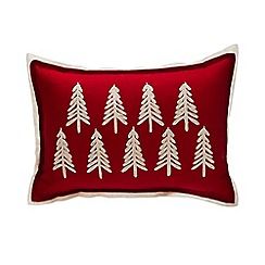 Home Collection - Red felt tree cushion
