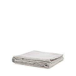 Home Collection - Grey velvet star print Christmas blanket
