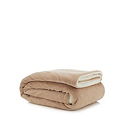Home Collection - Natural sherpa fleece throw