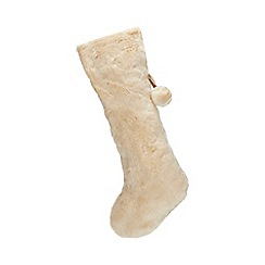 Home Collection - Natural faux fur Christmas stocking
