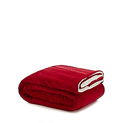 Home Collection - Red sherpa fleece throw