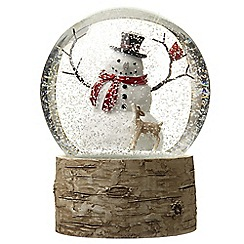 Heaven Sends - White Snowman Snow Globe Christmas Ornament