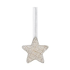 Parlane - Silver Beaded Star Tree Decoration
