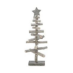 Parlane - Silver glitter tree ornament