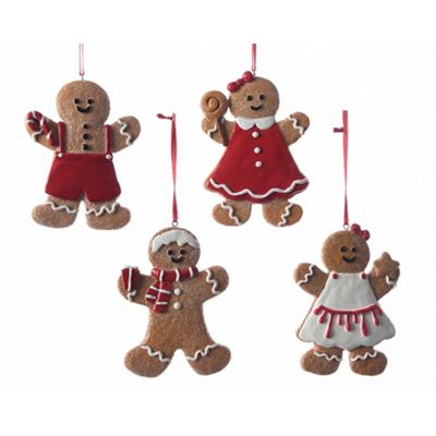 Kaemingk Assortment of 4 gingerbread men Christmas tree decorations |  Debenhams - Kaemingk Assortment Of 4 Gingerbread Men Christmas Tree Decorations