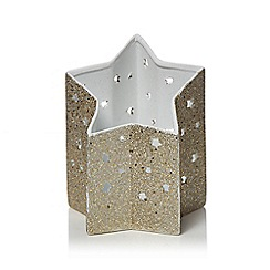 Home Collection - Large silver votive candle holder