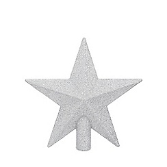 Home Collection - Silver glitter Christmas tree topper