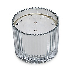 Debenhams - Silver 'White Christmas' scented candle