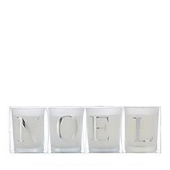 Debenhams - 4 pack votive 'Noel' candle set