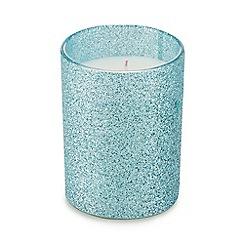 Debenhams - Blue glitter candle