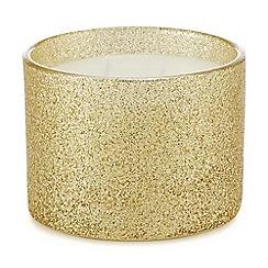 Debenhams - Gold glitter candle