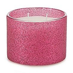 Debenhams - Pink glitter candle