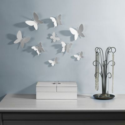 Umbra mariposa wall décor white debenhams