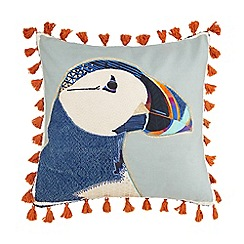 Abigail Ahern/EDITION - Multi-coloured puffin feather filled cushion