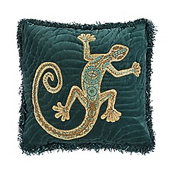 Abigail Ahern/EDITION - Green bead embellished lizard cushion