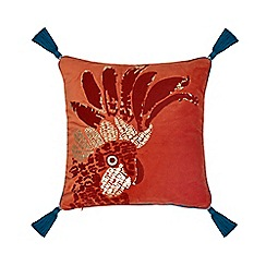 Abigail Ahern/EDITION - Orange Parrot embroidered cushion