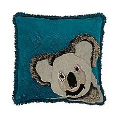 Abigail Ahern/EDITION - Turquoise Koala applique cushion