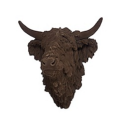 Abigail Ahern/EDITION - Brown highland cow head wall art