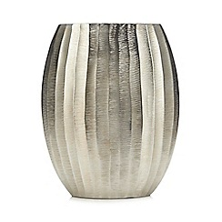 Abigail Ahern/EDITION - Silver Textured Oval Vase
