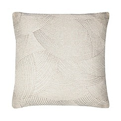 RJR.John Rocha - Natural linen stitch cushion