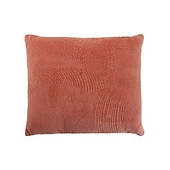 RJR.John Rocha - Coral velvet 'Hathi' feather filled cushion