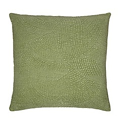RJR.John Rocha - Green velvet 'Hathi' feather filled cushion