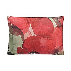 RJR.John Rocha - Red poppy print cushion
