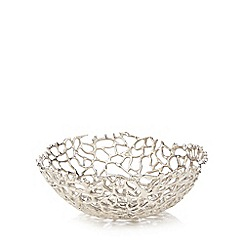 RJR.John Rocha - Silver coral shaped bowl
